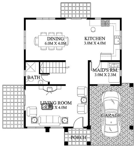 ground floor plan modern house design 2012005 eplans
