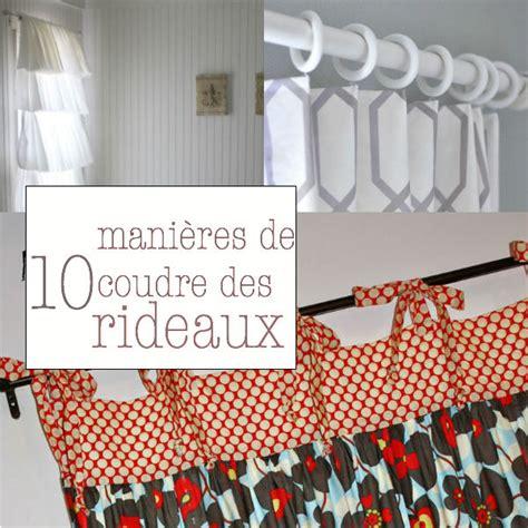 Comment Faire Un Rideau by Tuto Coudre Des Rideaux