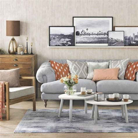 Orange Grey Living Room by Grey And Orange Living Room Family Living Room Design