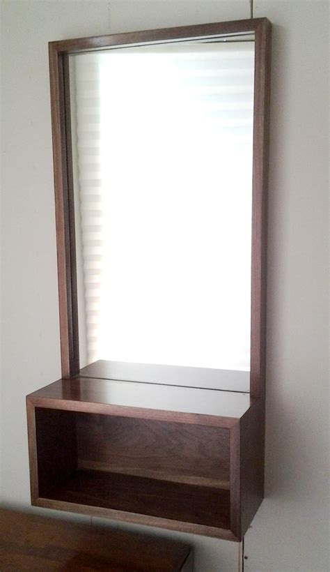 Mirror With Shelf by Walnut Entry Mirror With Shelf