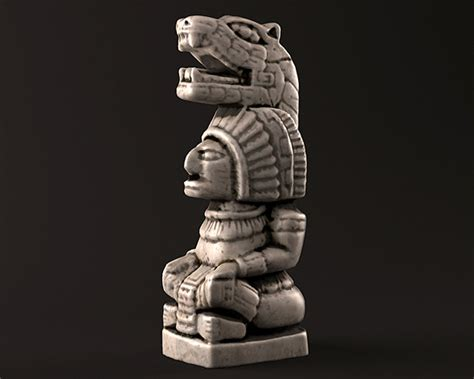 Animal Ornaments by Mayan Warrior Statue By Lruben 3docean