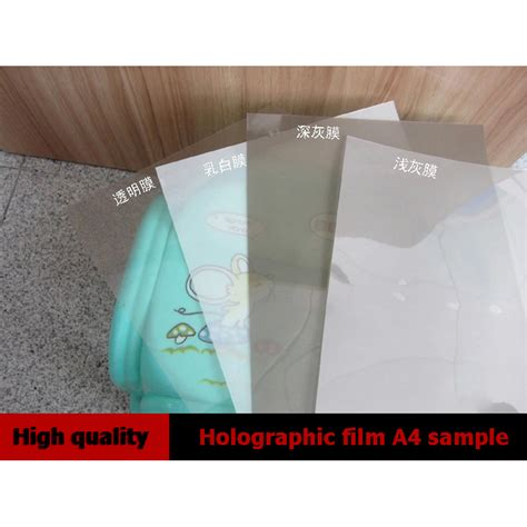 aliexpress com buy 4 piece picture running white horse holographic projection film a4 size sles rear