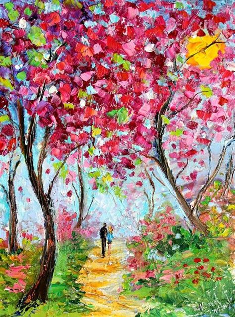 spring painting ideas landscape painting original oil spring love by http