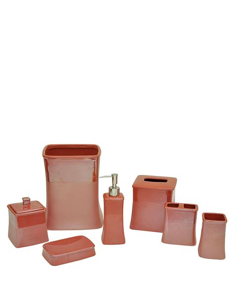 spiced coral kensley bath accessories
