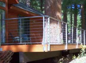deck patio porch balcony cable railing deck by