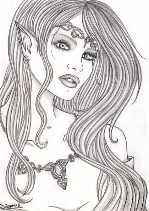 elf princess coloring page how to draw elf princess
