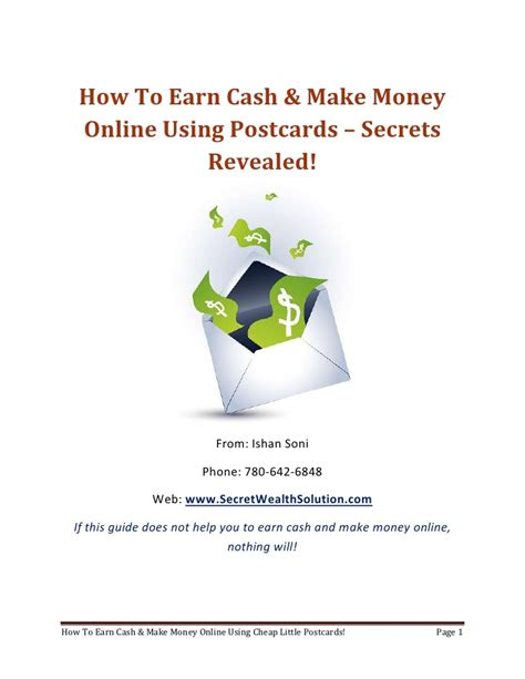 Make Money Online Cash - earn cash make money online