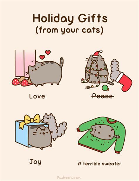 pusheen cat christmas to do list pusheen the cat