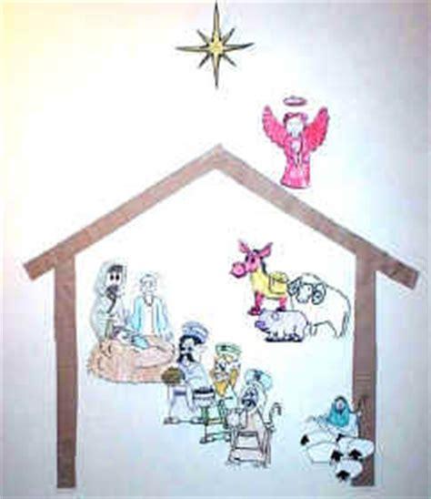 printable nativity scene for bulletin board skyblue let s make a christmas nativity scene
