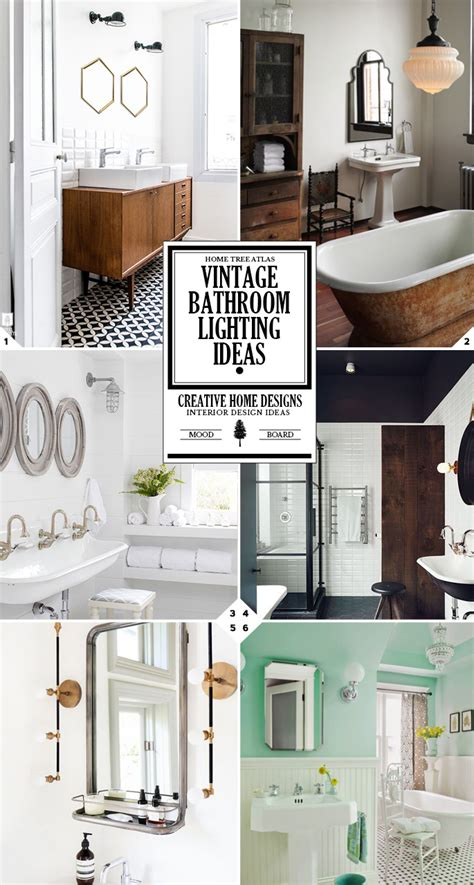 vintage bathroom lights endearing 20 vintage bathroom lighting ideas decorating