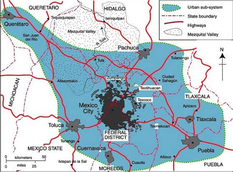 map of mexico city area mexico city geo mexico the geography of mexico