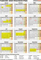 Kalender 2020 Rlp Kalender 2020 Rheinland Pfalz Ferien Feiertage Word