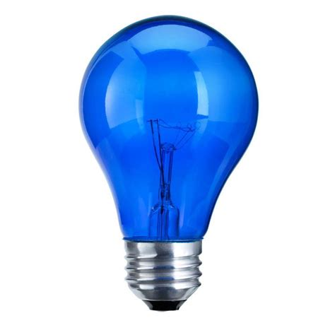 Blue Led Light Bulb Philips Autism Speaks 25 Watt Incandescent A19 Transparent Blue Light Bulb 427567 The Home Depot