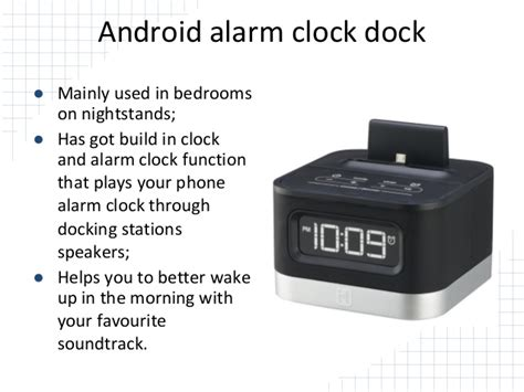 android alarm clock dock android station