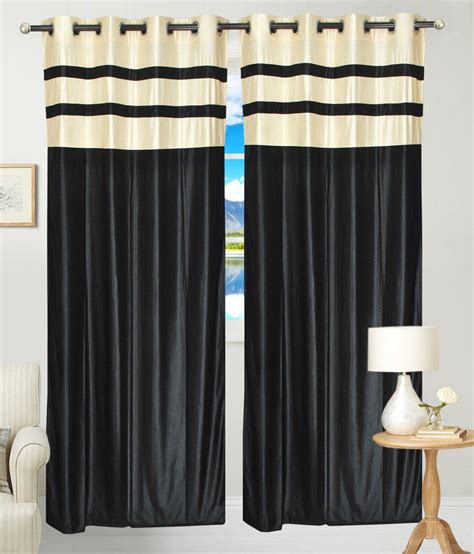 solid black curtains fresh from loom set of 2 long door eyelet curtains solid