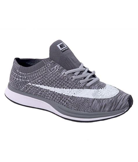 Nike Flyknit Racer Black Grey Premium Quality 1 nike flyknit racer gray running shoes buy nike flyknit