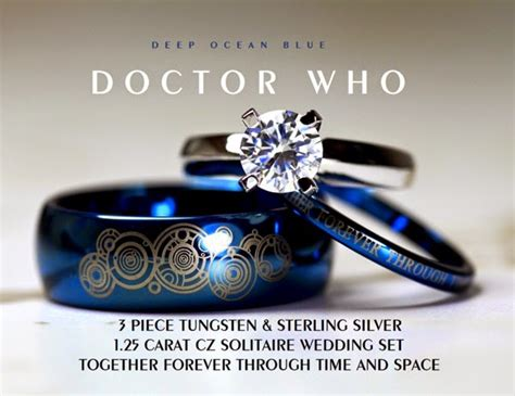 hello i m the doctor doctor who wedding ring set