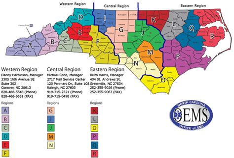Healthcare Administration Mba Northcentral by Nc Dhsr Oems Region Map