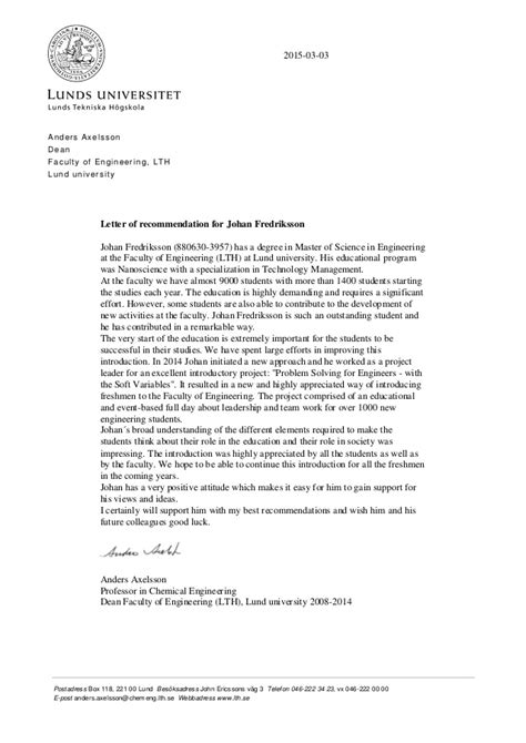 Reference Letter Postdoc recommendation letter for postdoc position sle