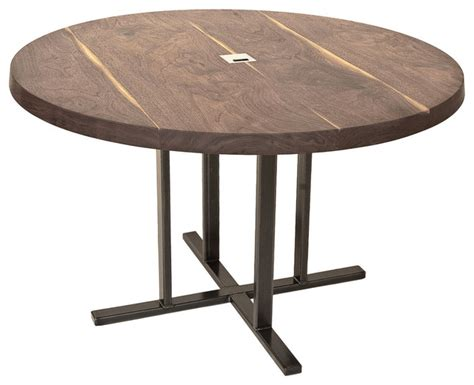 round contemporary ii dining table dering hall dining table round