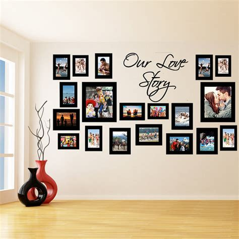 wall sticker picture frames vinyl wall decal picture frames design our story photos