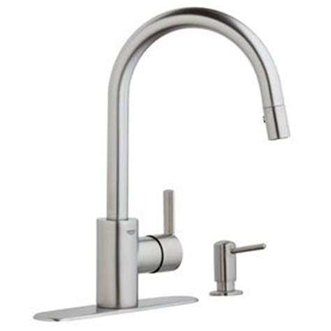 grohe kitchen faucets amazon grohe feel chrome 1 handle pull down kitchen faucet