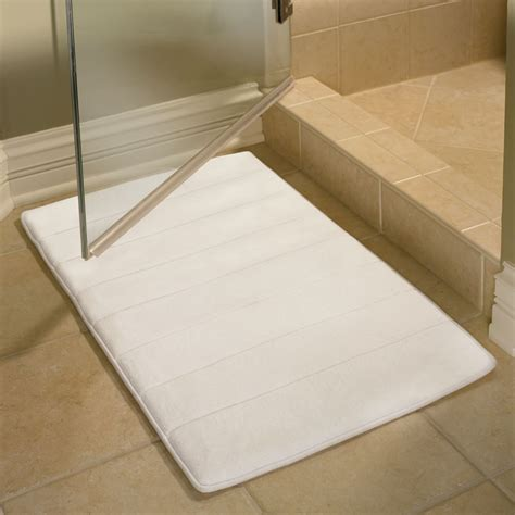 mat bathroom the memory foam bathroom mat hammacher schlemmer