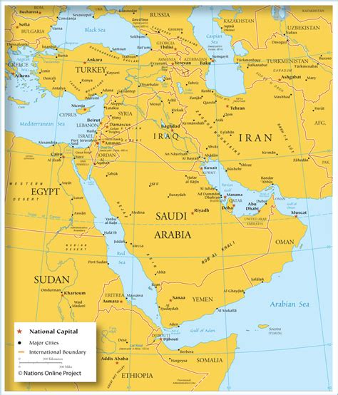 middle east city map map of southwestern asia middle east country boundaries
