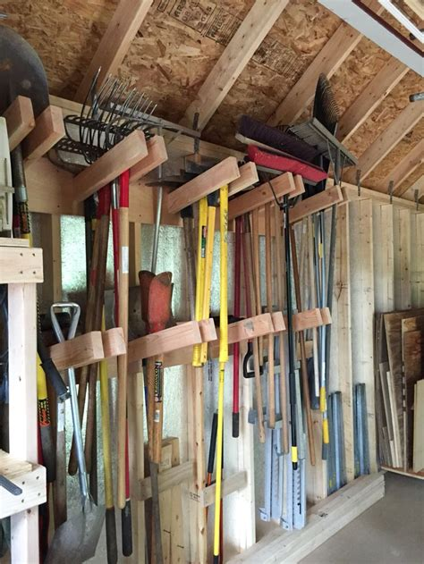 shed organization ideas  pinterest garage diy