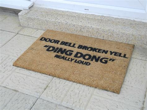 doormat funny door bell broken yell doormat ckb ltd funny joke coir