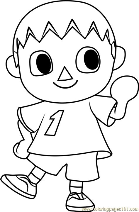 villager coloring page the villager animal crossing coloring page free animal
