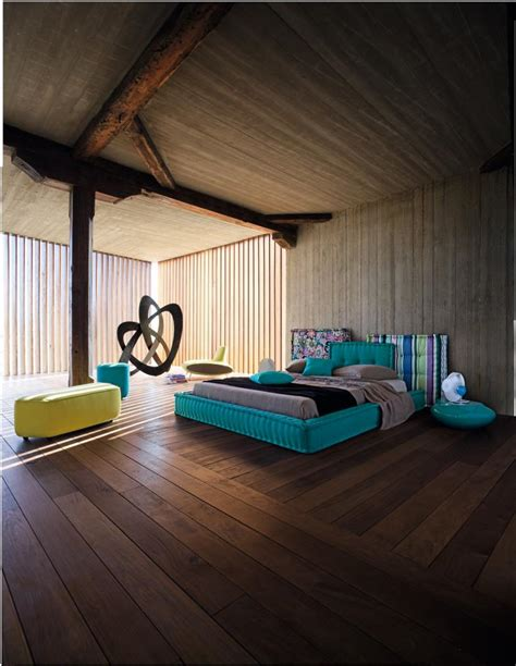 Interesting Interior Design Ideas Rustic Modern Aqua Bedroom Idea By Roche Bobois