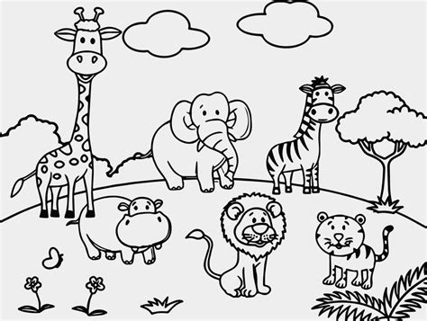 coloring pages of animals in the zoo awesome cartoon zoo animals coloring pages coloring pages