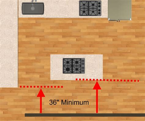 space between island and counter kitchen space design island spacing