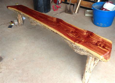 cedar bench split cedar bench 171 elm tree garden