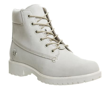 timberland white boots for womens timberland slim premium 6 inch boots white mono
