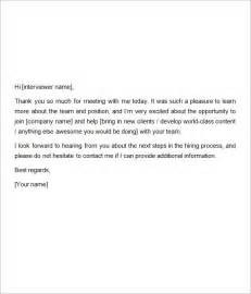 sample thank you letter after interview medical