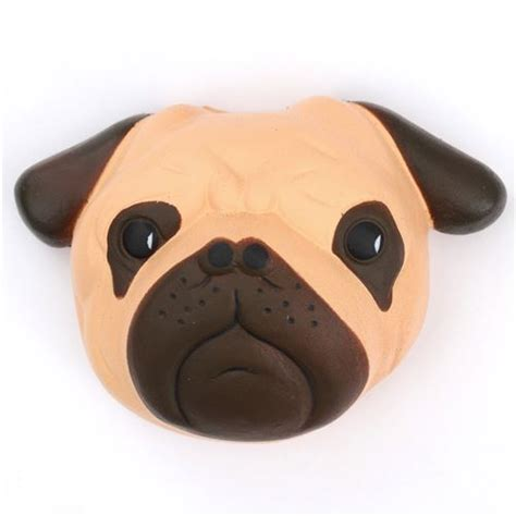Halloween Arts N Crafts - faulty brown pug dog animal face squishy kawaii scented cheap squishies squishies shop modes4u