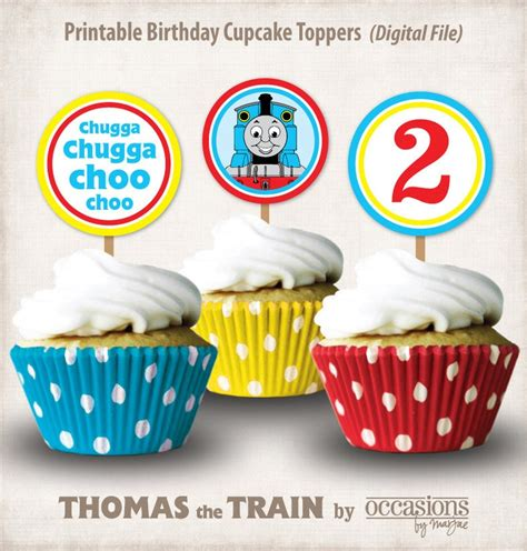 printable thomas the train party decorations personalized printable thomas the train birthday cupcake