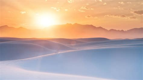 wallpaper sunrise white sands  mexico   nature