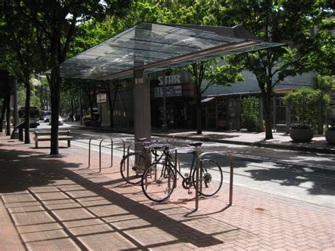 Covered Bike Rack by Bike Parking National Association Of City Transportation