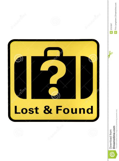 lost and found lost and found stock image image of prominent pictograph 3751067