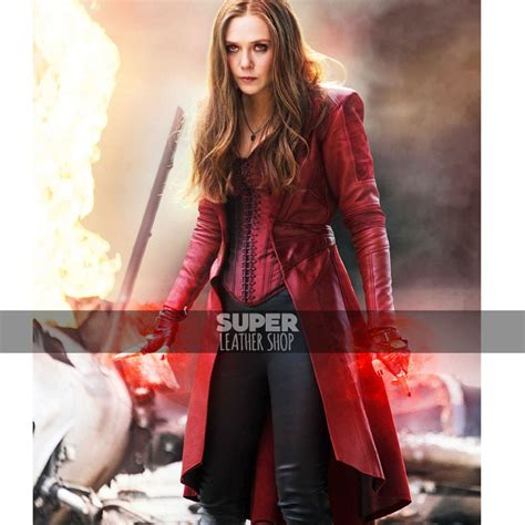 scarlet witch captain america civil war scarlet witch red coat civil war elizabeth olsen coat