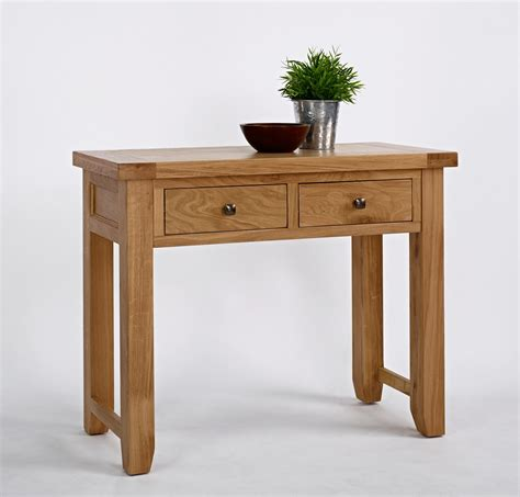 Oak Console Table With Drawers by Oak Console Table With 2 Drawers