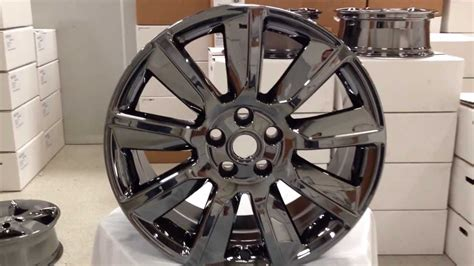 black chrome range rover new 20 quot black chrome black gloss wheels for range rover