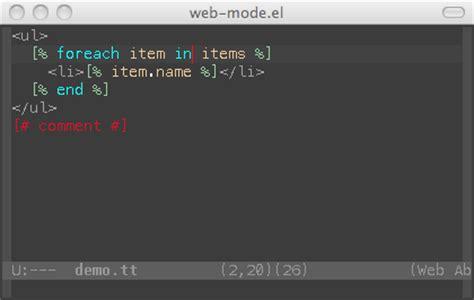 web mode el html template editing for emacs