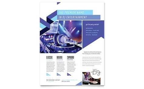 Dj Flyer Template Word Publisher Flyer Template Publisher