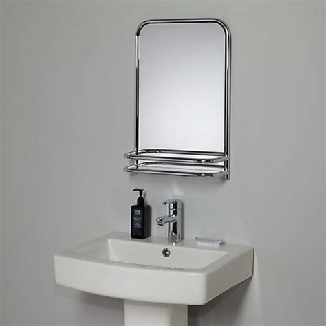 mirrors with shelves for the bathroom buy john lewis restoration bathroom wall mirror with shelf