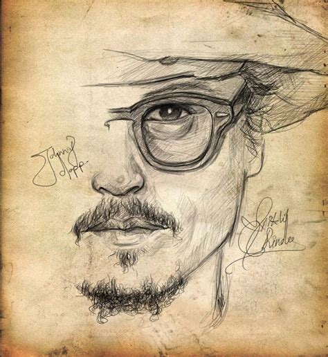 sketch tattoo johnny depp 58 best people art images on pinterest drawing ideas