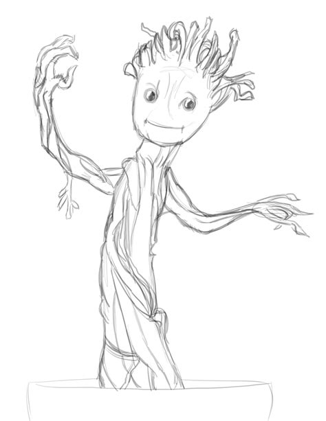 coloring page baby groot baby groot coloring lesson kids coloring page coloring